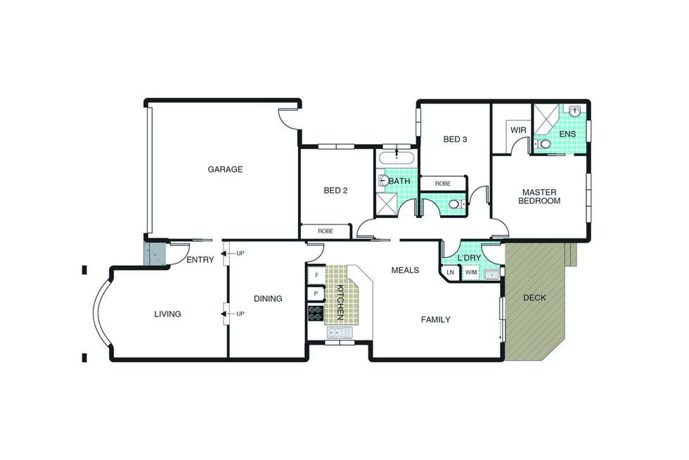 Floorplan of Homely townhouse listing, 10 Lind Close, Fraser ACT 2615