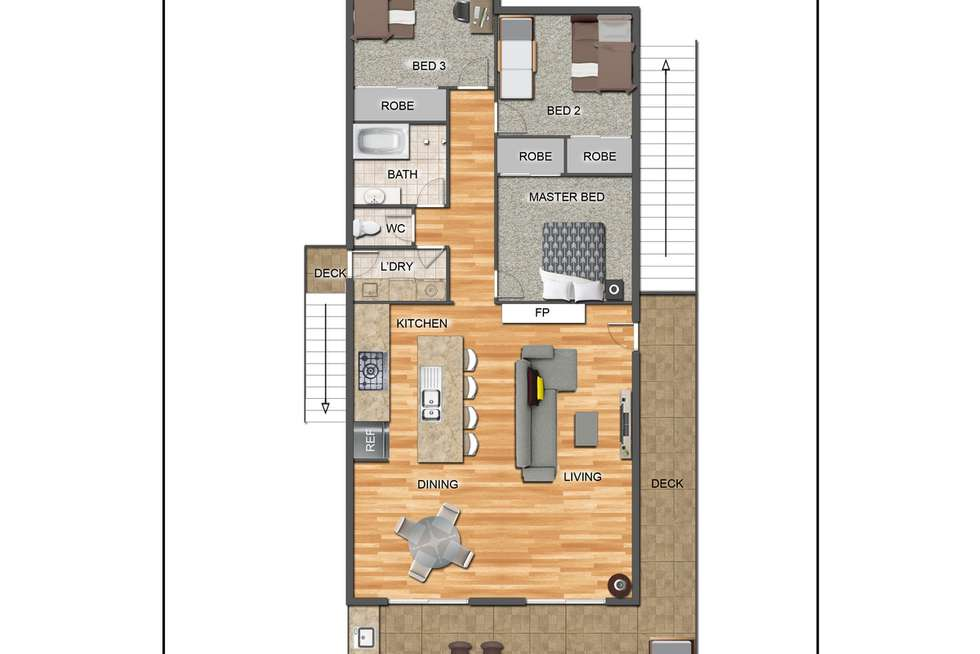 Floorplan of Homely house listing, 544 Ocean Drive, North Haven NSW 2443