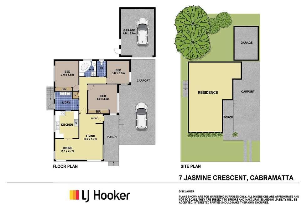 Floorplan of Homely house listing, 7 Jasmine Crescent, Cabramatta NSW 2166