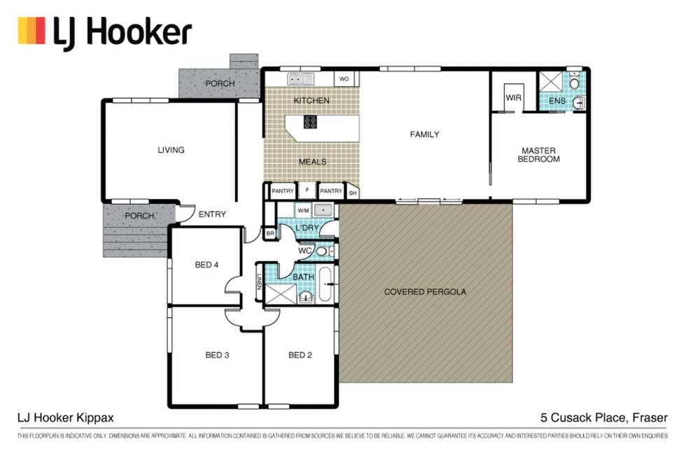 Floorplan of Homely house listing, 5 Cusack Place, Fraser ACT 2615