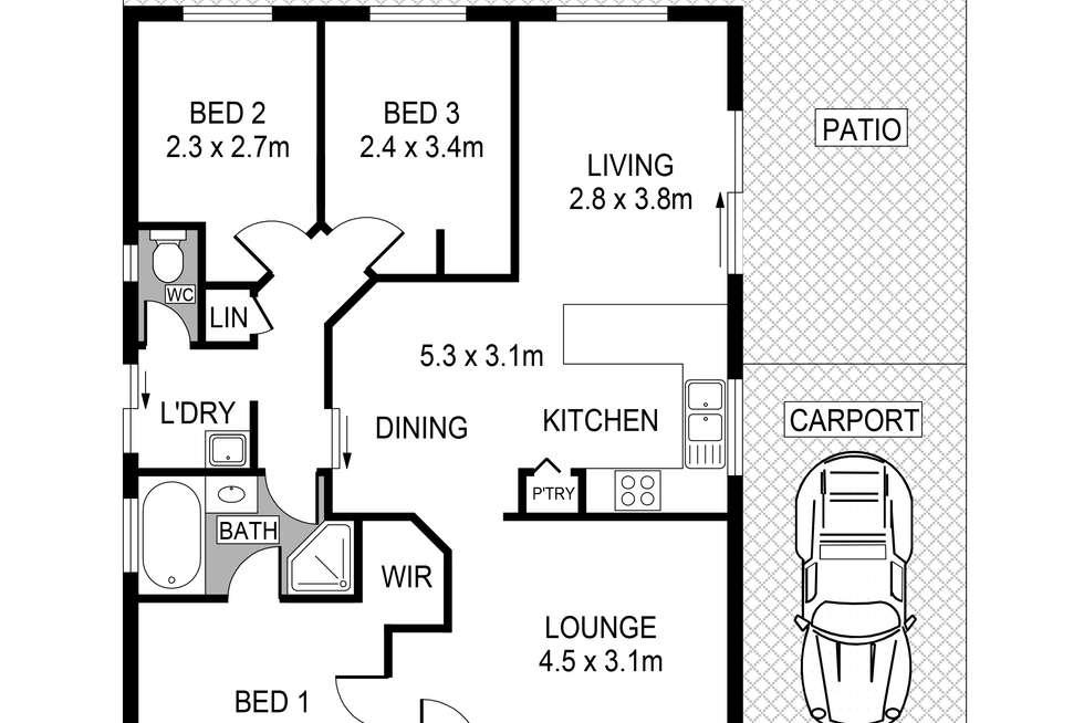 Floorplan of Homely house listing, 34 Duncombe Grove, Quinns Rocks WA 6030