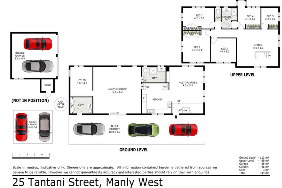 Floorplan of Homely house listing, 25 Tantani Street, Manly West QLD 4179