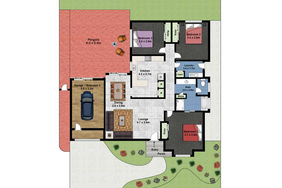 Floorplan of Homely house listing, Address available on request