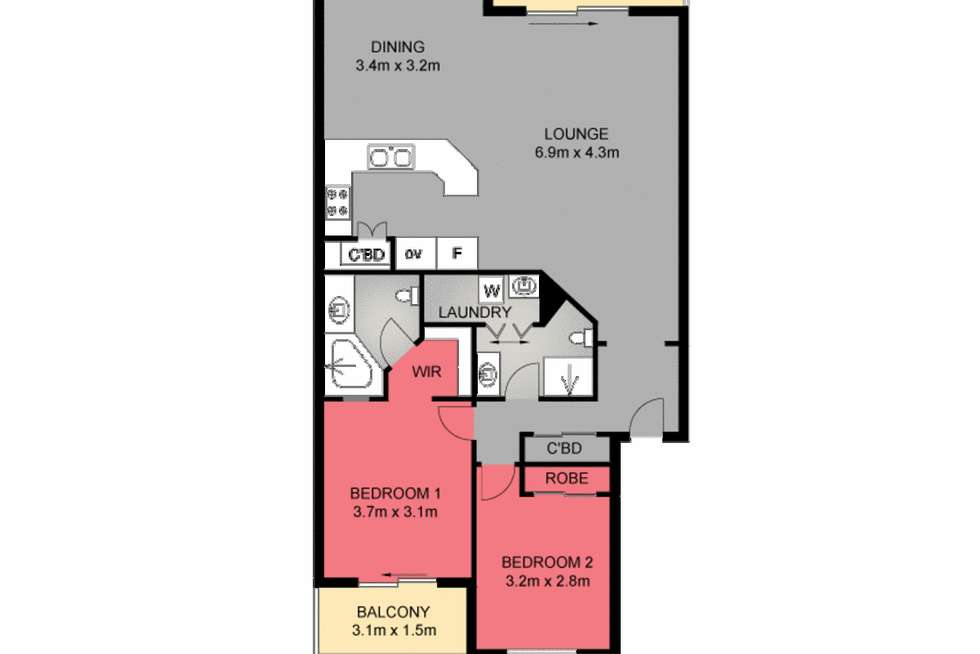 Floorplan of Homely apartment listing, 47/20-21 Pacific Parade, Yamba NSW 2464