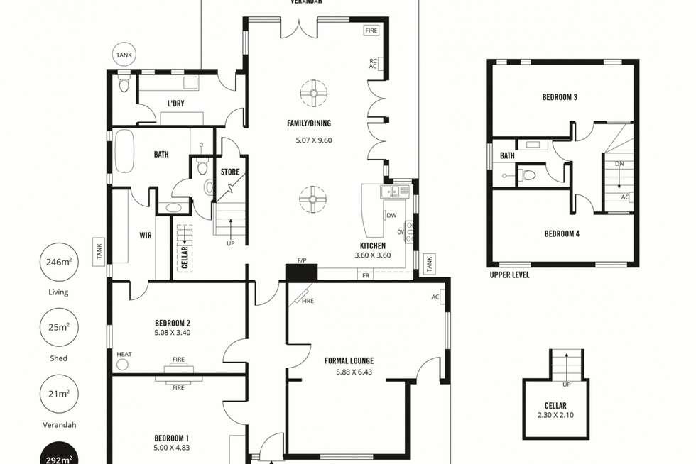 Floorplan of Homely house listing, 13 Edward Street, Evandale SA 5069