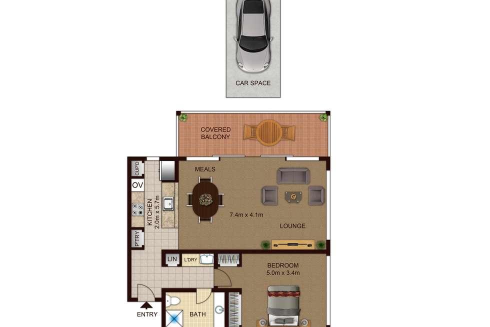 Floorplan of Homely apartment listing, 30/1 Sydney Avenue, Barton ACT 2600