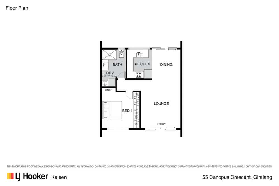 Floorplan of Homely townhouse listing, 55 Canopus Crescent, Giralang ACT 2617