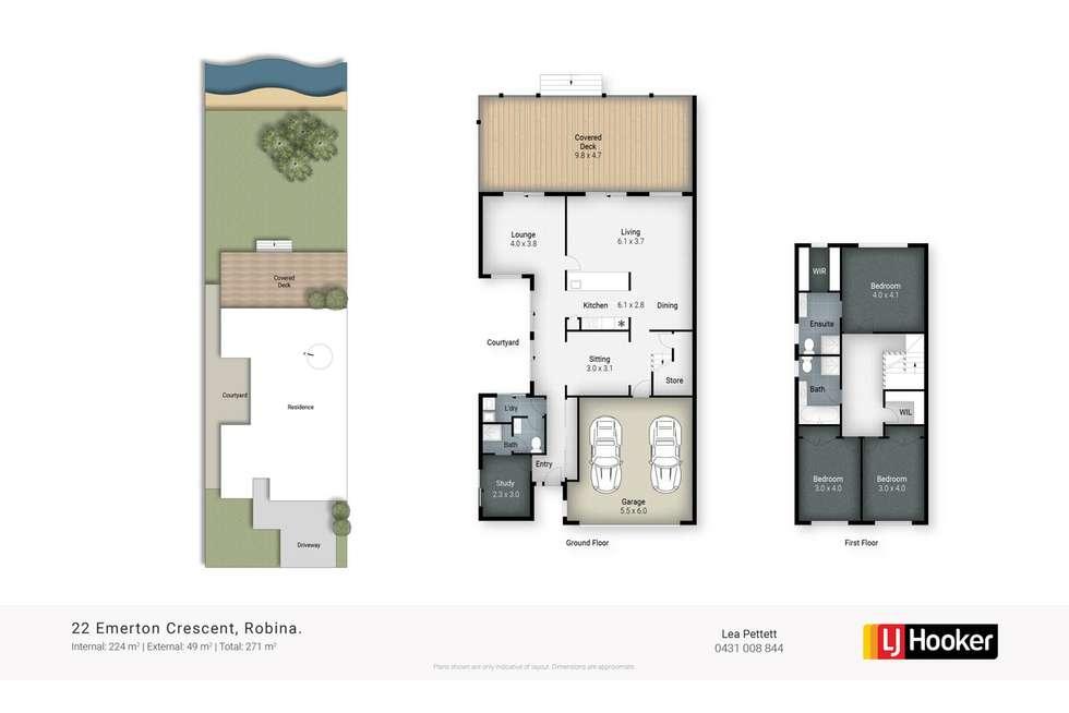 Floorplan of Homely house listing, 22 Emerton Crescent, Robina QLD 4226