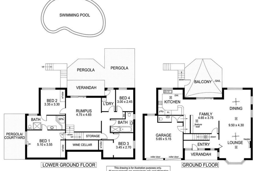 Floorplan of Homely house listing, 8 Gulfview Road, Seaview Downs SA 5049