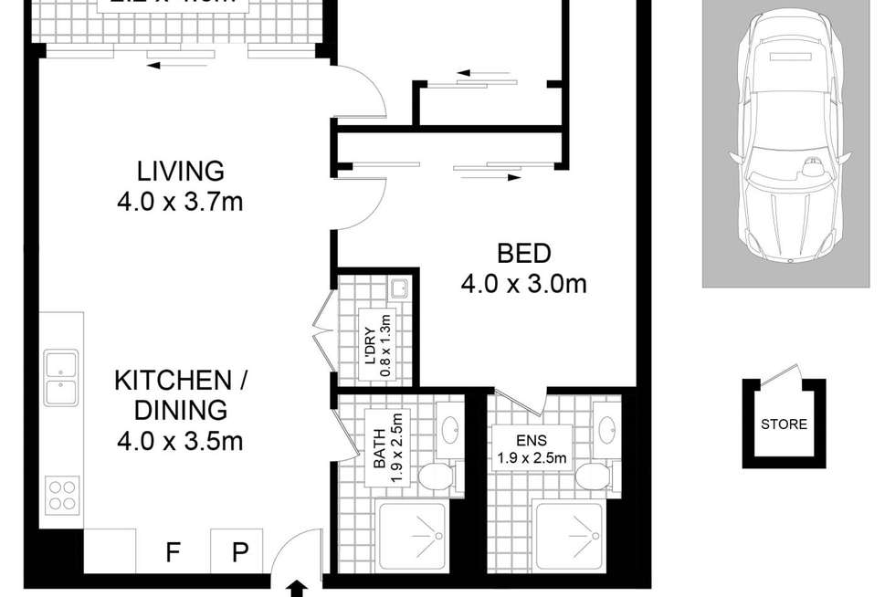 Floorplan of Homely apartment listing, 26/6 Archibald Avenue, Waterloo NSW 2017