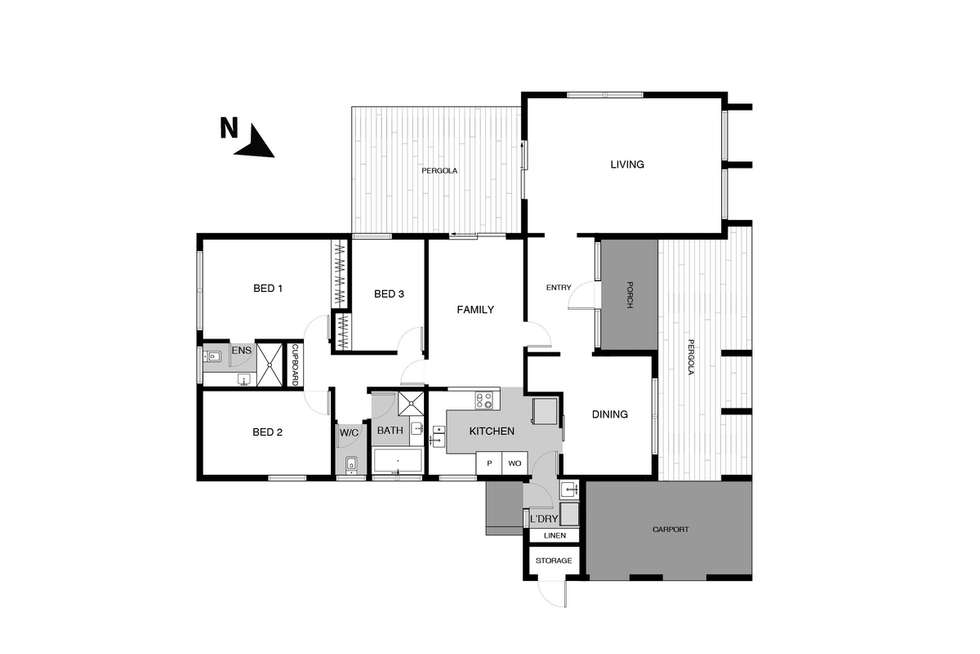 Floorplan of Homely house listing, 204 Tillyard Drive, Fraser ACT 2615