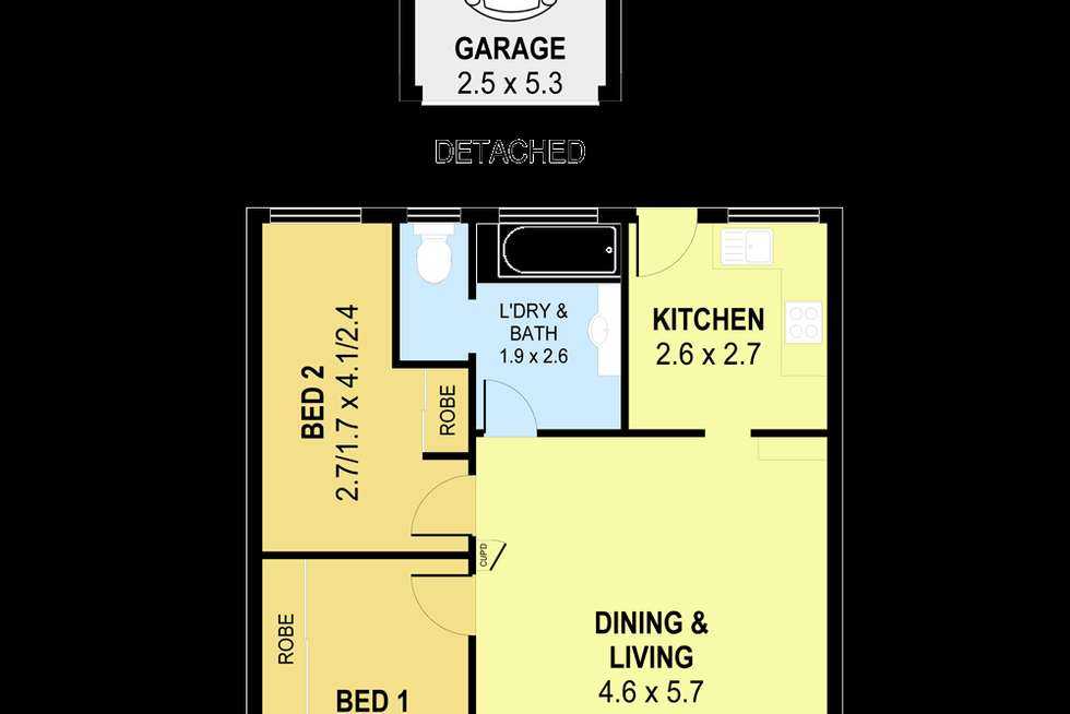 Floorplan of Homely unit listing, 3/48 Robsons Road, Keiraville NSW 2500