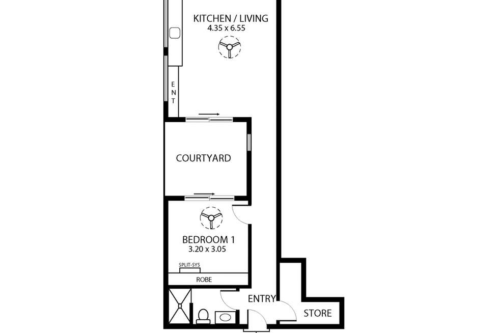 Floorplan of Homely apartment listing, G03/59 Gibson Street, Bowden SA 5007