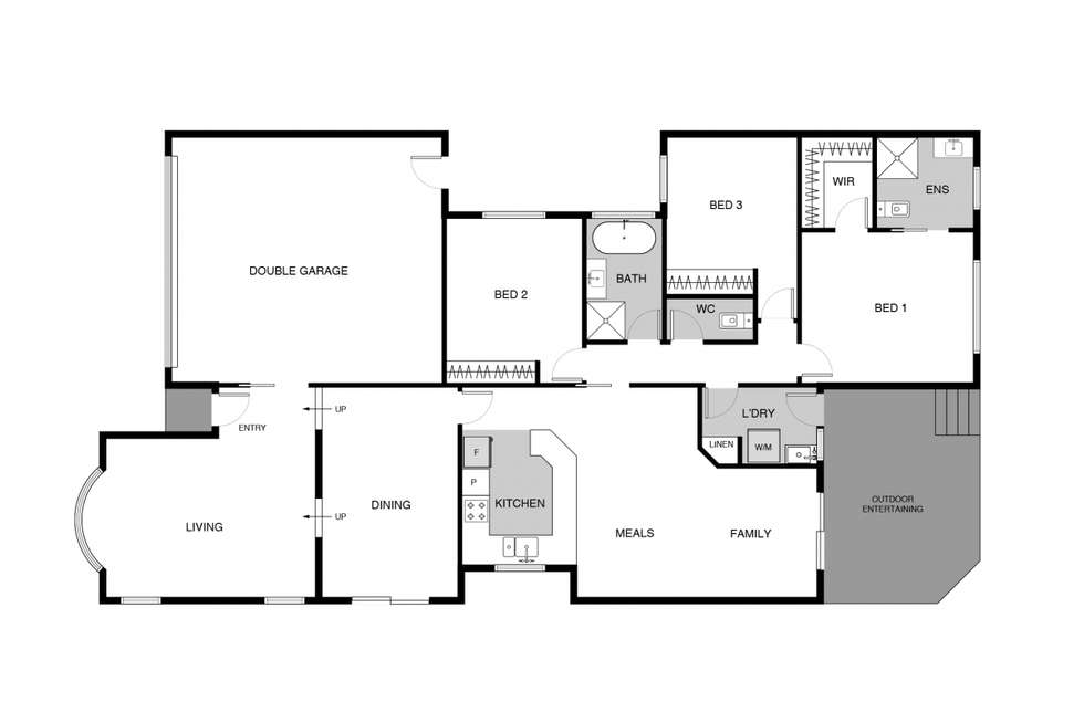 Floorplan of Homely townhouse listing, 19/12 Daley Crescent, Fraser ACT 2615