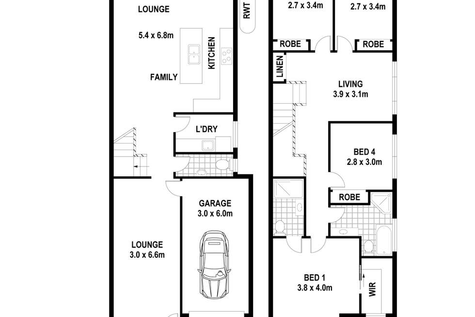 Floorplan of Homely house listing, 3A Innes St, Campbelltown NSW 2560