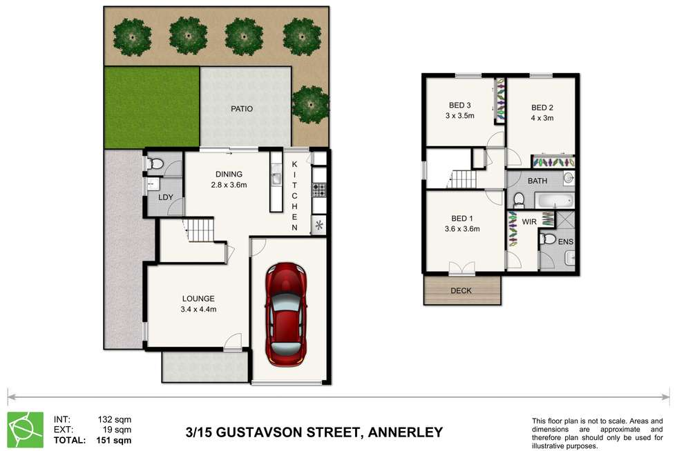 Floorplan of Homely townhouse listing, 3/15 Gustavson Street, Annerley QLD 4103
