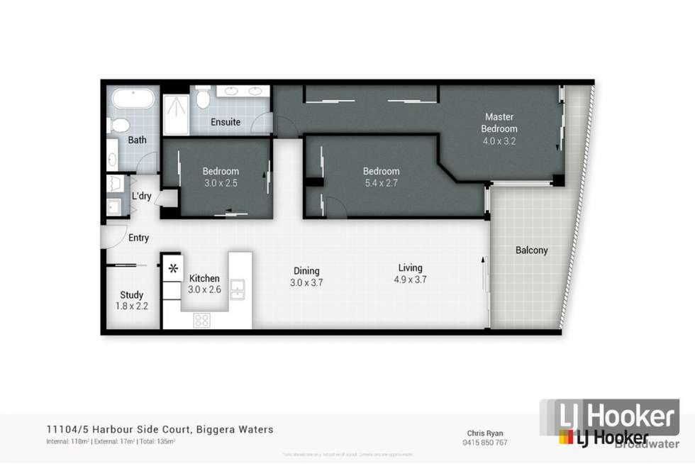 Floorplan of Homely unit listing, 11104/5 Harbour Side Court, Biggera Waters QLD 4216