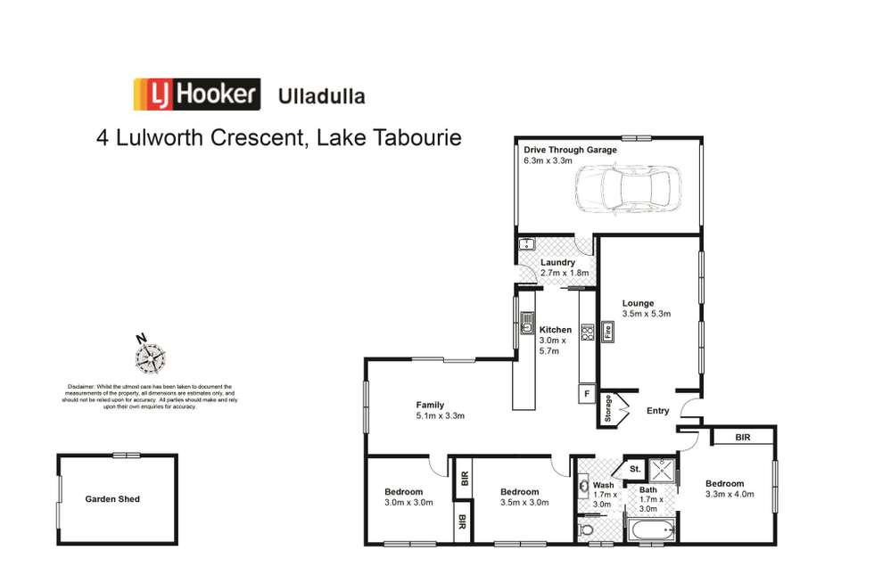 Floorplan of Homely house listing, 4 Lulworth Crescent, Lake Tabourie NSW 2539