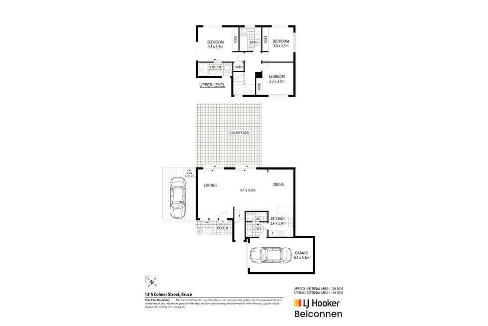 Floorplan of Homely townhouse listing, 13/5 Colmer Street, Bruce ACT 2617