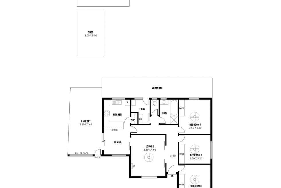 Floorplan of Homely house listing, 98 Heysen Avenue, Hope Valley SA 5090