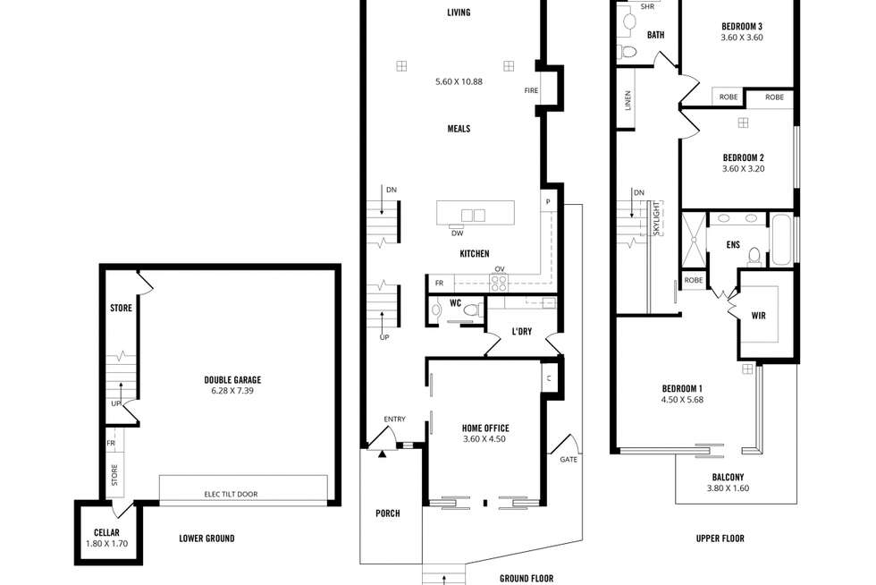 Floorplan of Homely house listing, 20B Gertrude Street, Norwood SA 5067