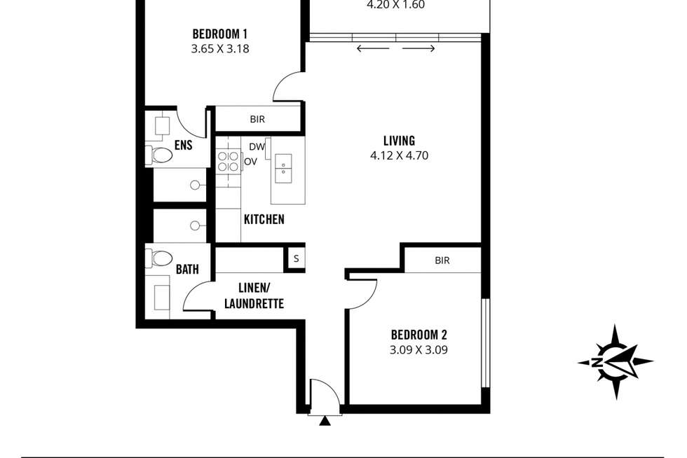 Floorplan of Homely apartment listing, 702/1 King William Street, Kent Town SA 5067