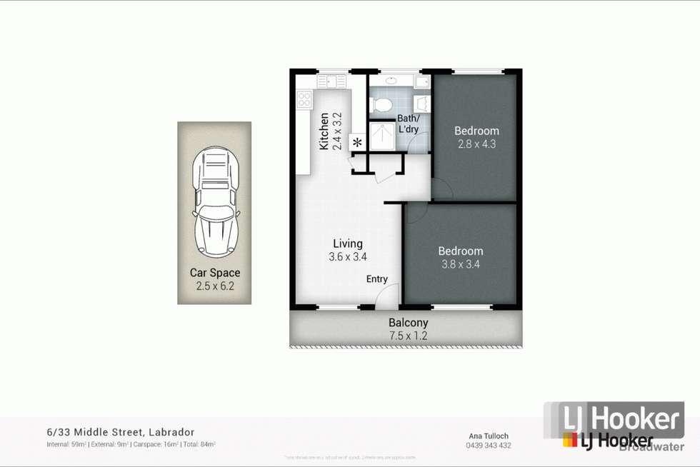 Floorplan of Homely unit listing, 6/33 Middle Street, Labrador QLD 4215