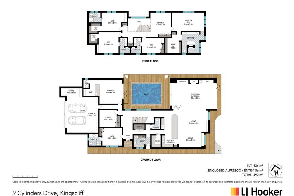 Floorplan of Homely house listing, 9 Cylinders Drive, Kingscliff NSW 2487