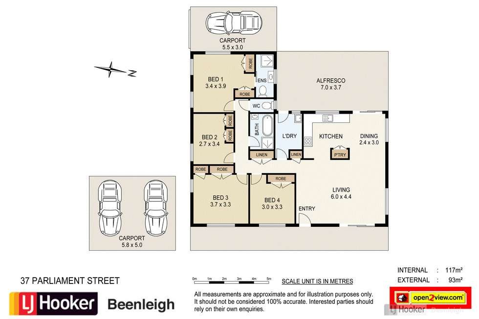 Floorplan of Homely house listing, 37 Parliament Street, Bethania QLD 4205