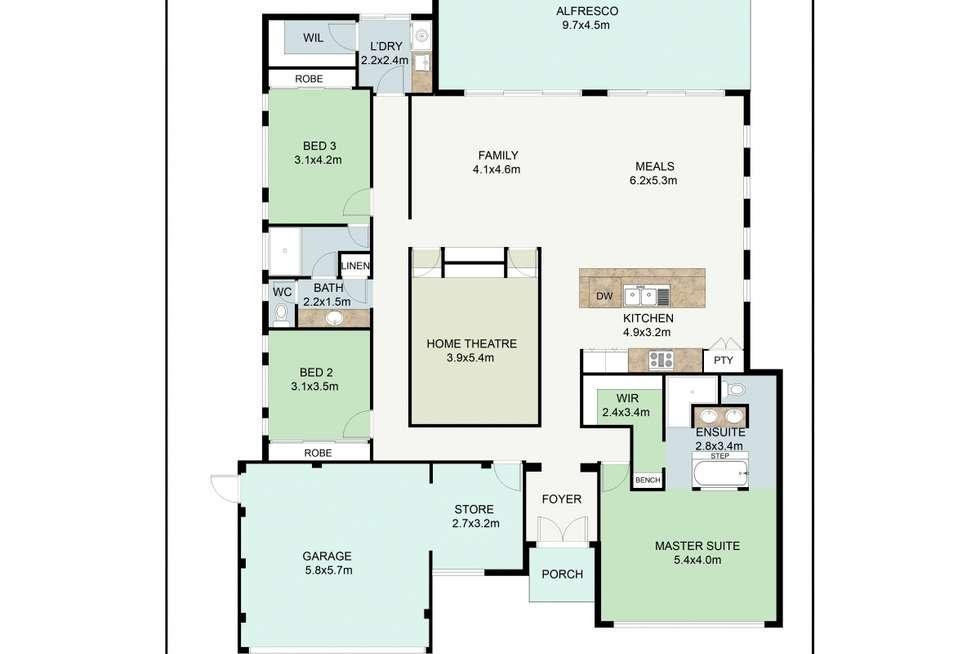 Floorplan of Homely house listing, 15 Warrior Pass, Madora Bay WA 6210