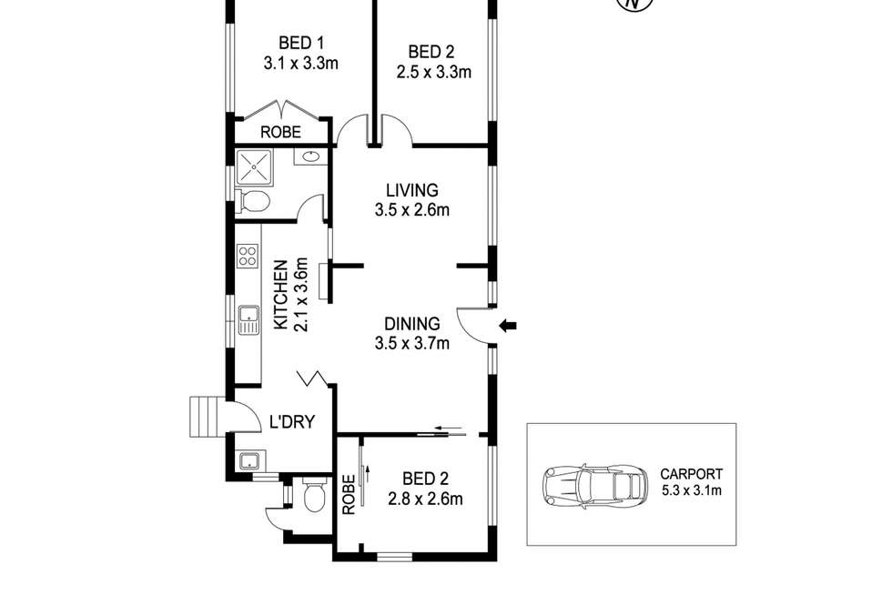 Floorplan of Homely house listing, 1 Wall Street, North Haven NSW 2443