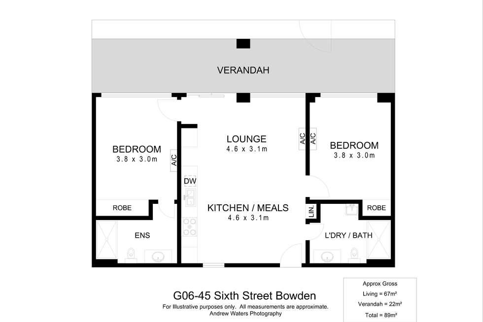 Floorplan of Homely apartment listing, G06/46 Sixth Street, Bowden SA 5007