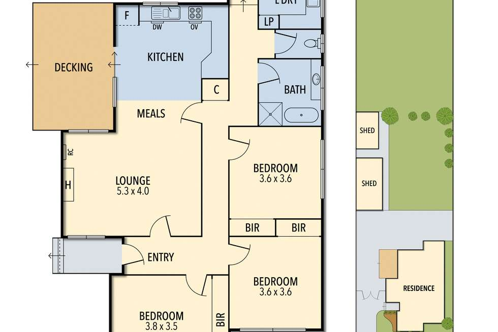 Floorplan of Homely house listing, 64 Hart Street, Colac VIC 3250