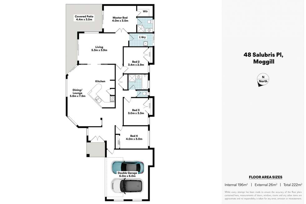 Floorplan of Homely house listing, 48 Salubris Place, Moggill QLD 4070