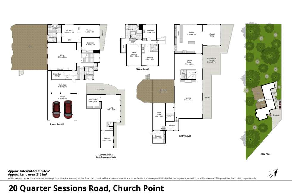 Floorplan of Homely house listing, 20 Quarter Sessions Road, Church Point NSW 2105