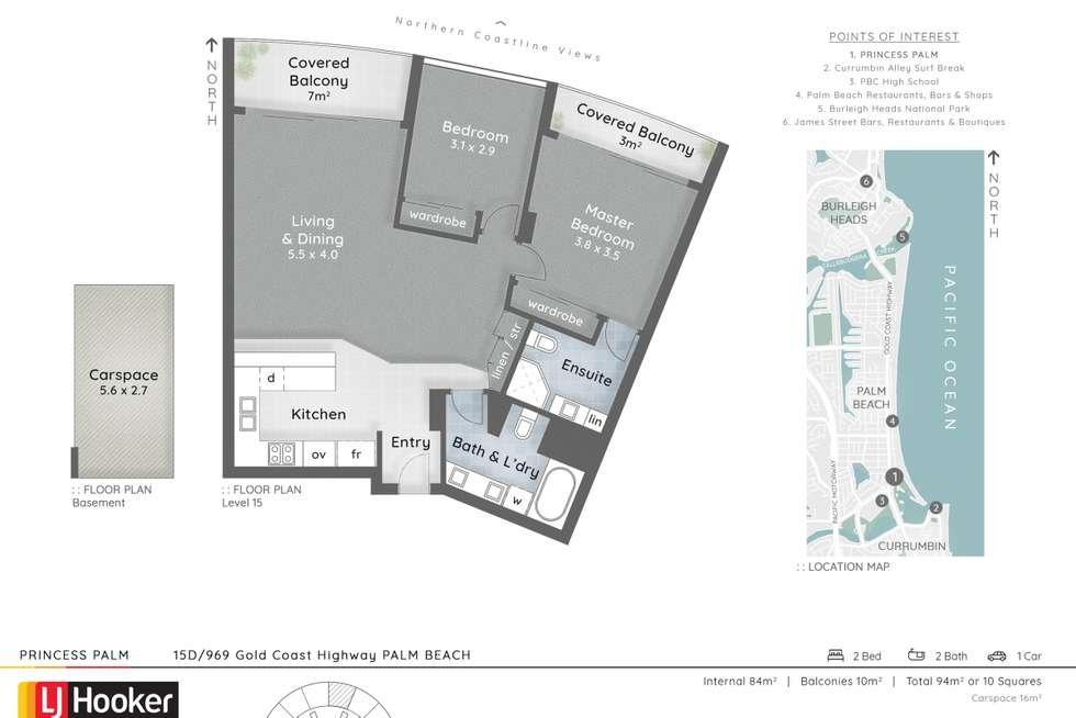 Floorplan of Homely unit listing, 15D/969 Gold Coast Highway, Palm Beach QLD 4221
