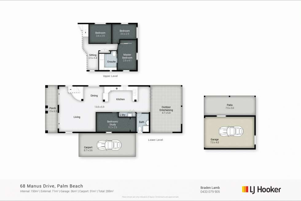 Floorplan of Homely house listing, 68 Manus Avenue, Palm Beach QLD 4221