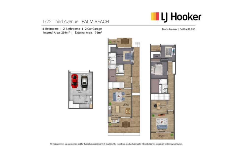 Floorplan of Homely semiDetached listing, 1/22 Third Avenue, Palm Beach QLD 4221