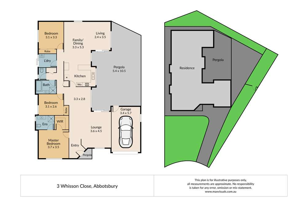 Floorplan of Homely house listing, 3 Whisson Close, Abbotsbury NSW 2176