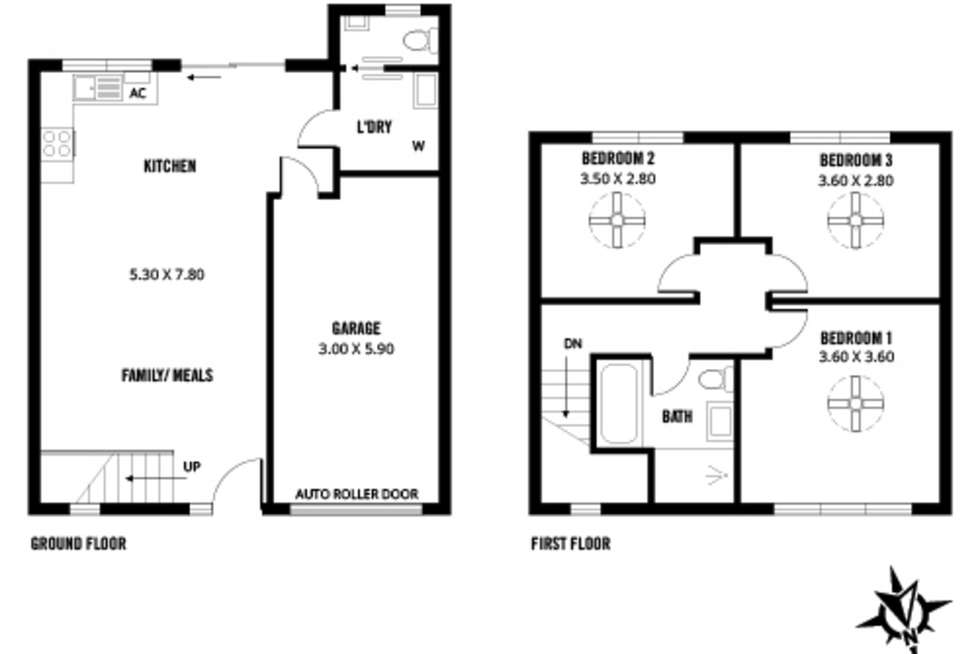 Floorplan of Homely townhouse listing, 16/9 Bald Street, Smithfield Plains SA 5114