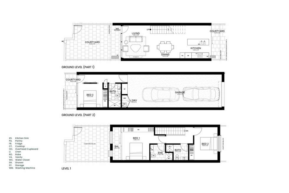 Floorplan of Homely townhouse listing, Kingsland Parade, Casey ACT 2913