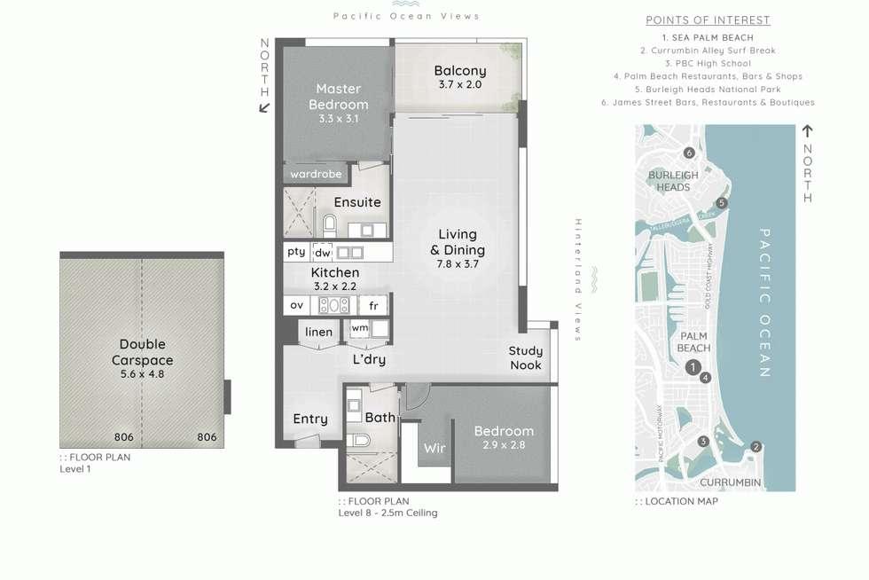 Floorplan of Homely unit listing, 806/16-20 Seventh Avenue, Palm Beach QLD 4221
