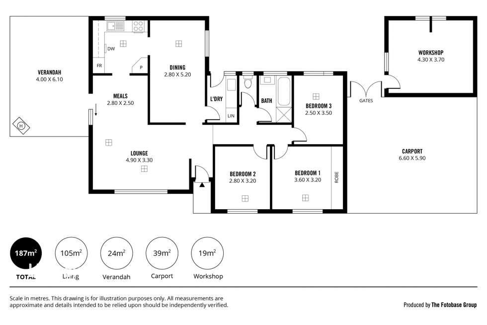 Floorplan of Homely house listing, 8 Casuarina Drive, Parafield Gardens SA 5107