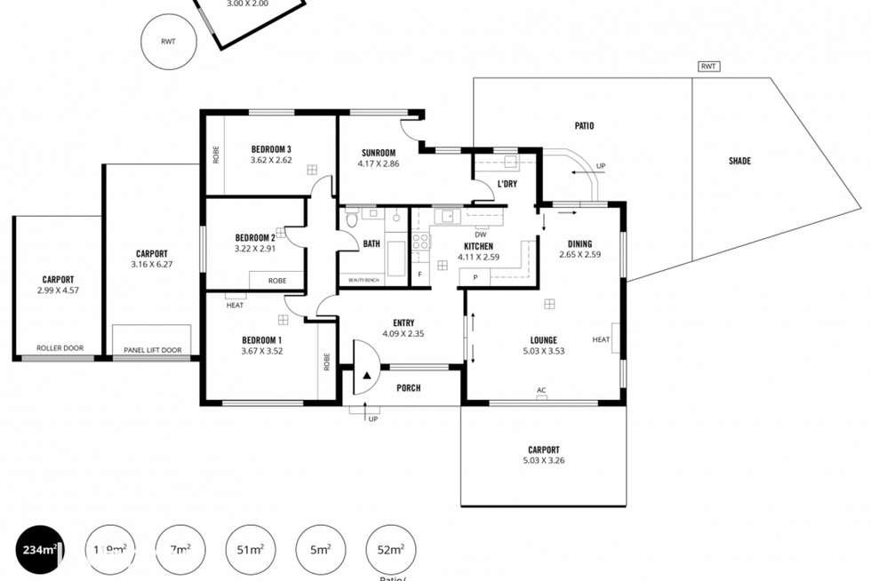 Floorplan of Homely house listing, 2 Marleycombe Road, Elizabeth Vale SA 5112