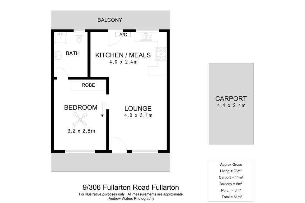 Floorplan of Homely unit listing, 9/306 Fullarton Road, Fullarton SA 5063
