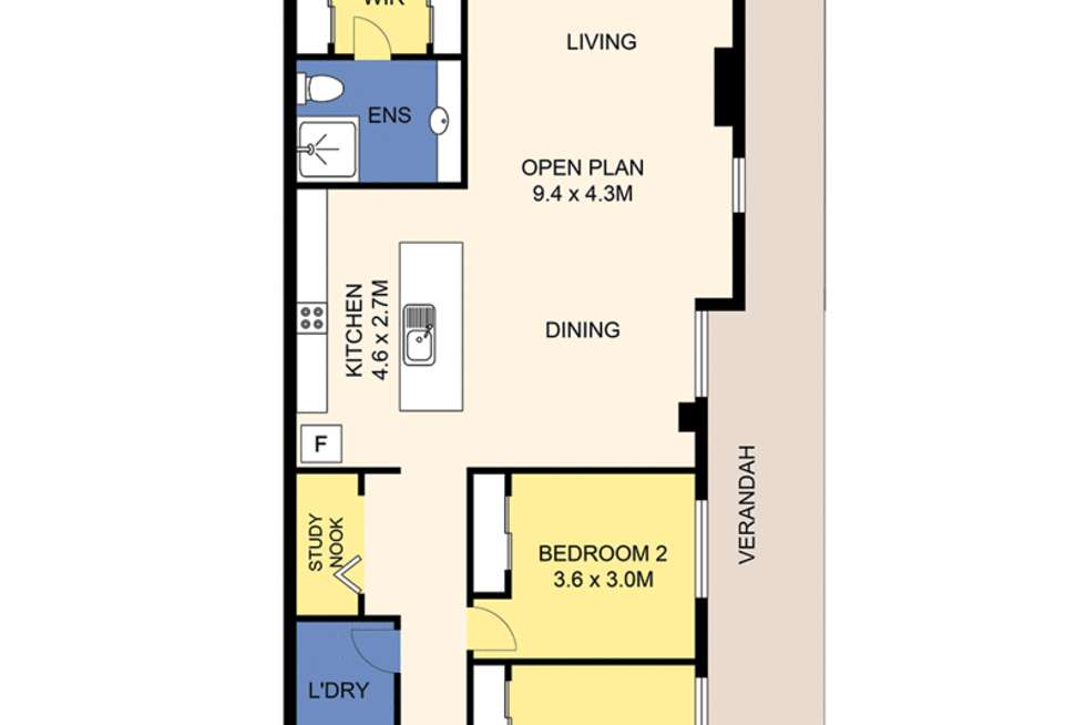 Floorplan of Homely apartment listing, 4/24 Brooks Parade, Belmont NSW 2280