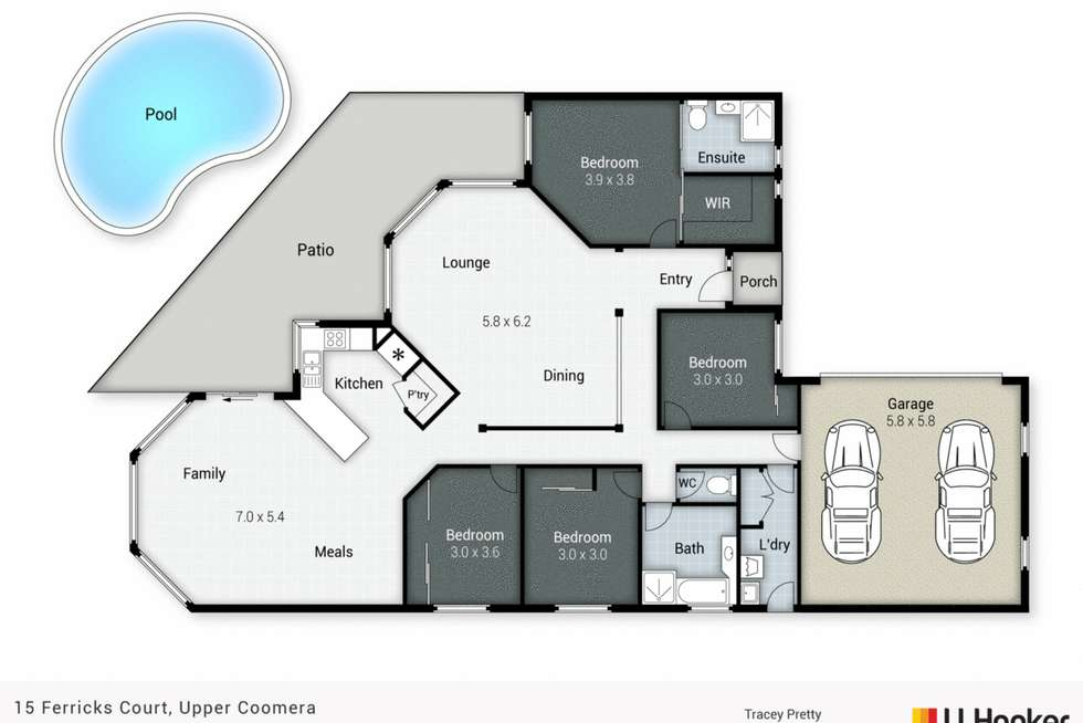 Floorplan of Homely house listing, 15 Ferricks Court, Upper Coomera QLD 4209