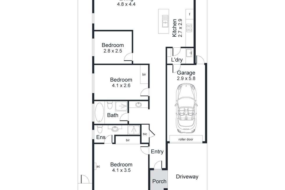 Floorplan of Homely house listing, 54 William Langman Circuit, Ridleyton SA 5008