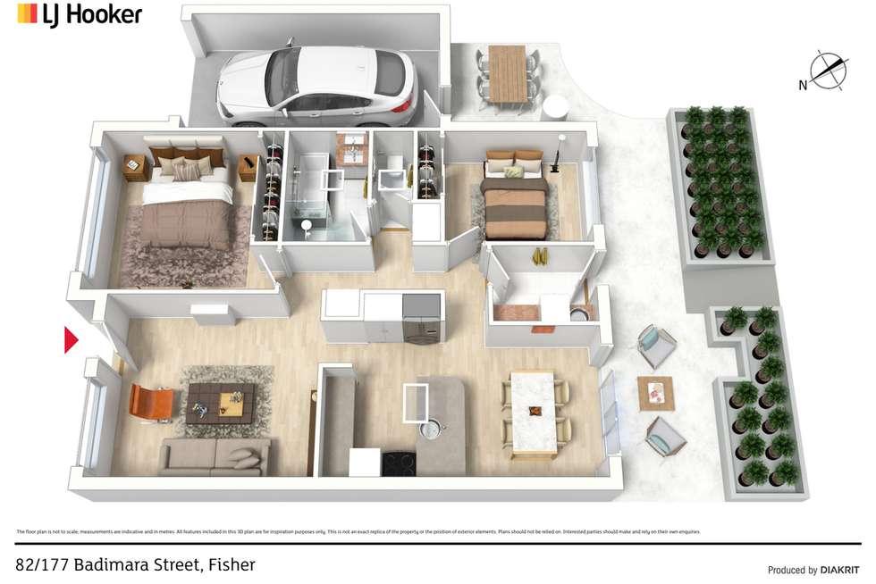 Floorplan of Homely retirement listing, 82/177 Badimara Street, Fisher ACT 2611