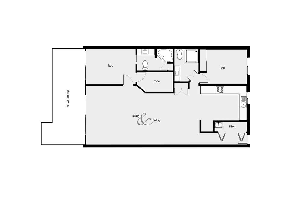 Floorplan of Homely unit listing, 17/304-308 Lake Street, Cairns North QLD 4870
